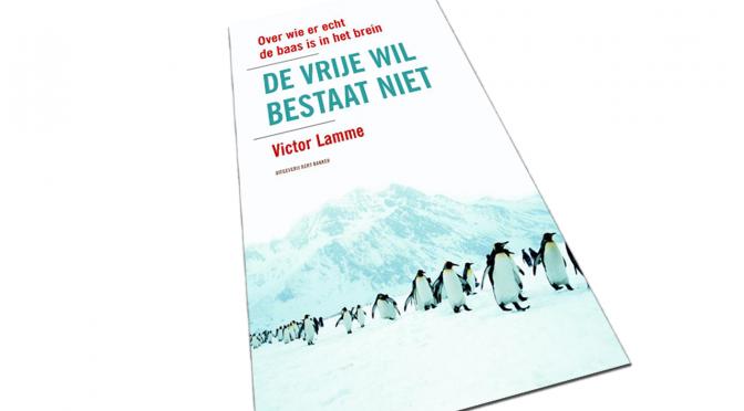 Cover van het boek, de vrije wil bestaat niet.