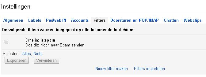 Laat belangrijk mail niet in de spam-filter hangen bij je forwards.
